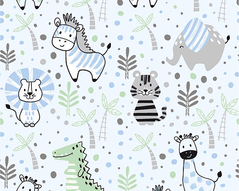 Kids Animals Cotton Jersey