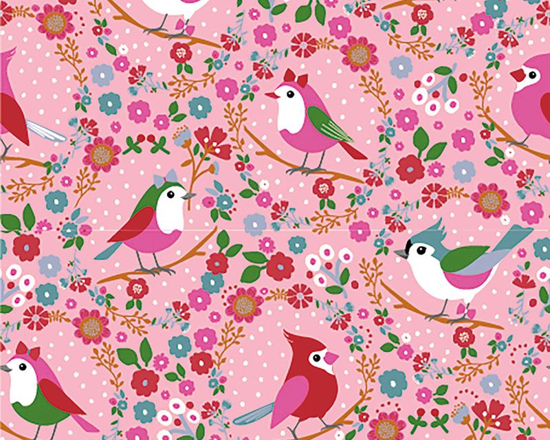 Robin Bird Cotton Jersey