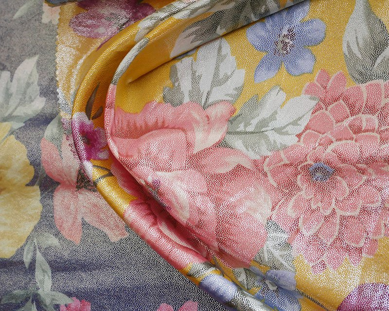 Large Flowers Foil Jersey