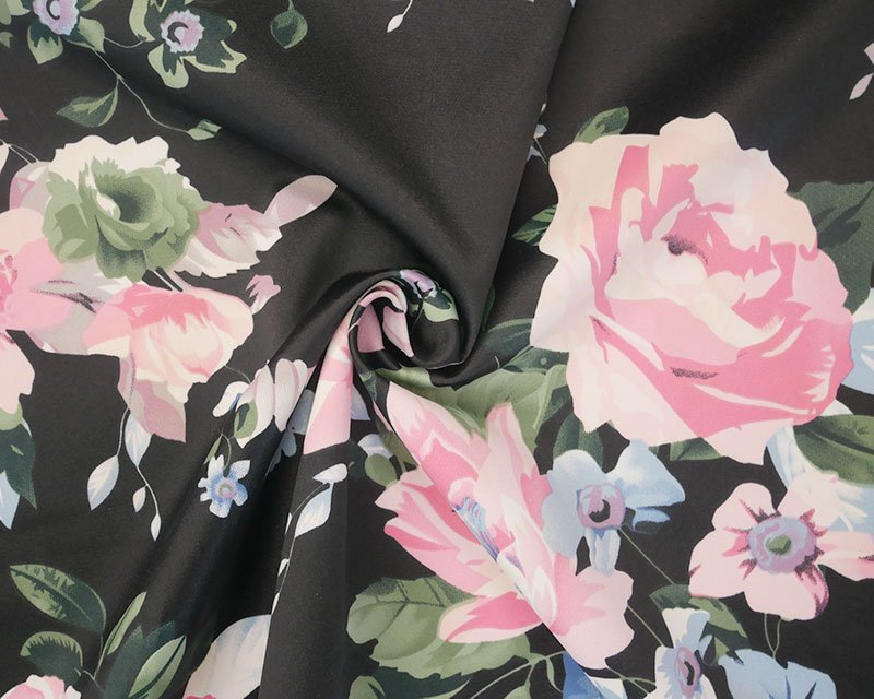 Pastel Flowers Sateen