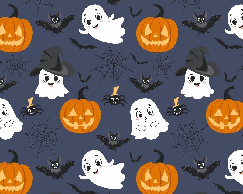 Halloween Ghost Hat Cotton Poplin