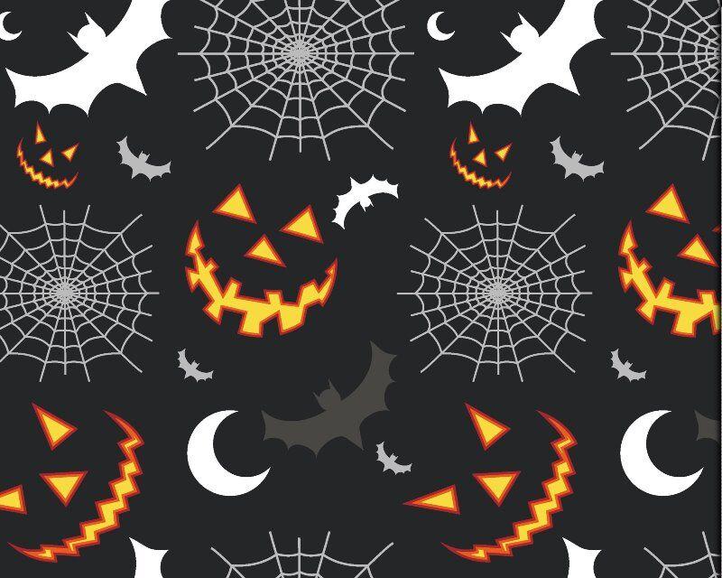 Halloween Night Time Cotton Poplin