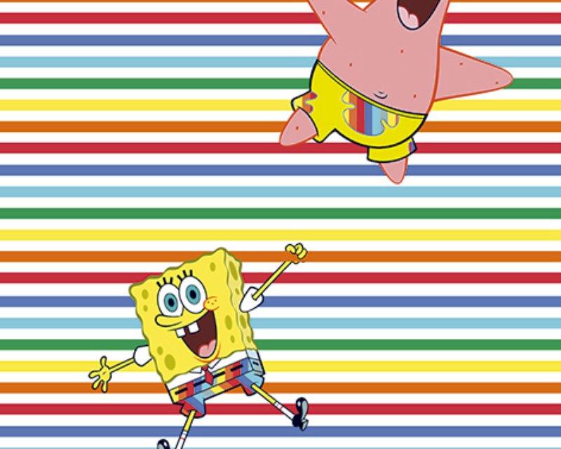 Little Johnny - Sponge Bob Rainbow Stripe Cotton