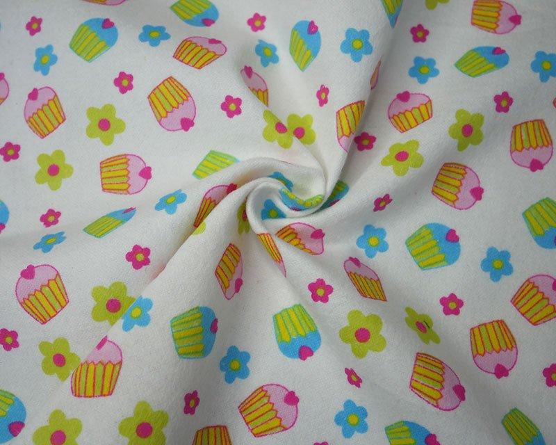Cupcake Flowers Winceyette