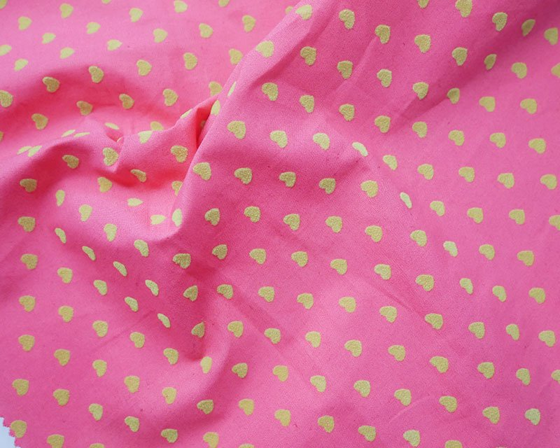 Flocked Hearts Cotton
