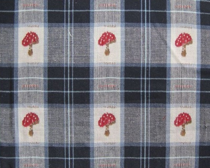 Toadstool Check Cotton