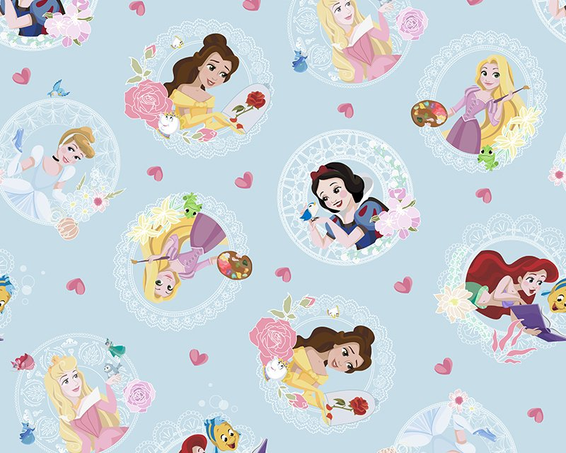 Little Johnny -  Disney - Princess Love Hearts - Cotton