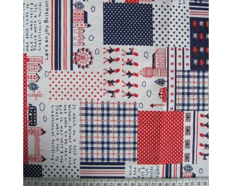 British Patchwork Polycotton Canvas