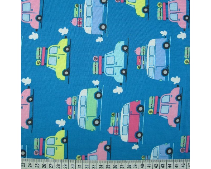 Caravan Cars Cotton Poplin