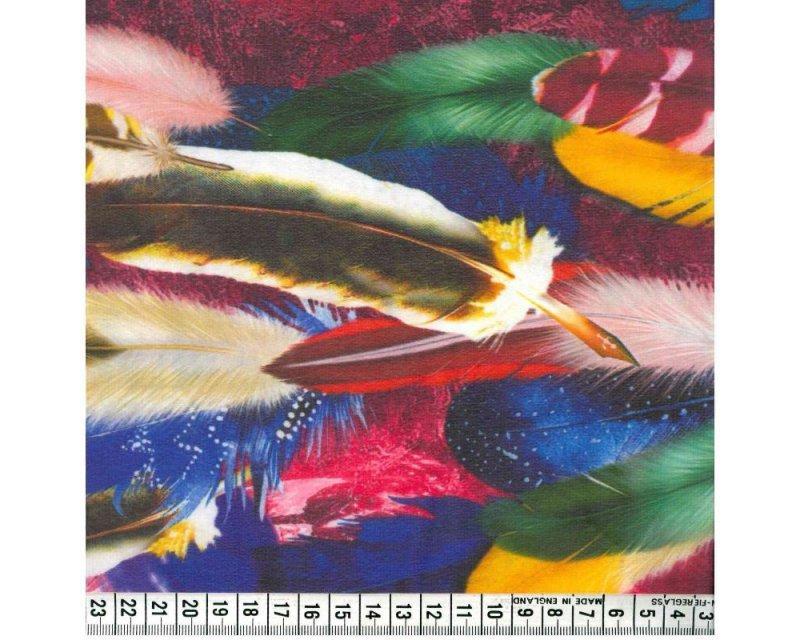 Feathers Digital Georgette