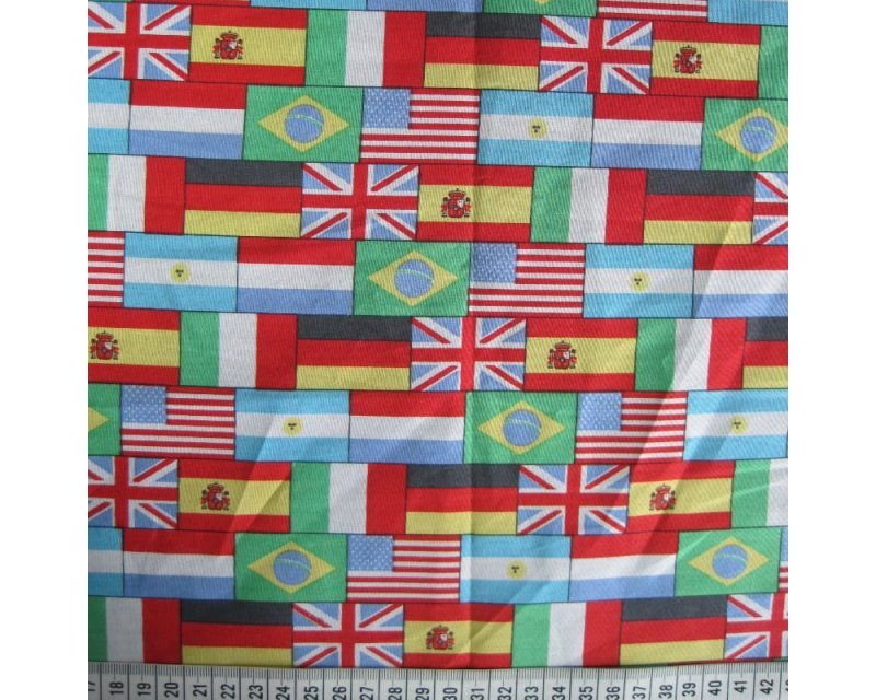 Flags Cotton Poplin