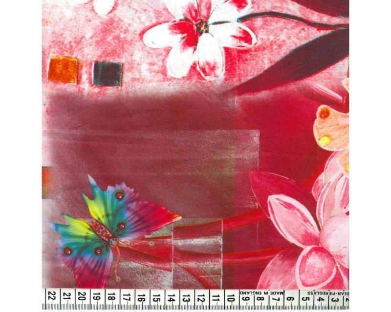 Floral Butterfly Digital Peachskin