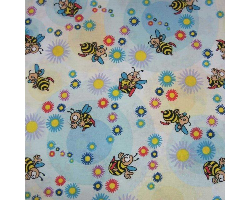 M + M Bees Poplin