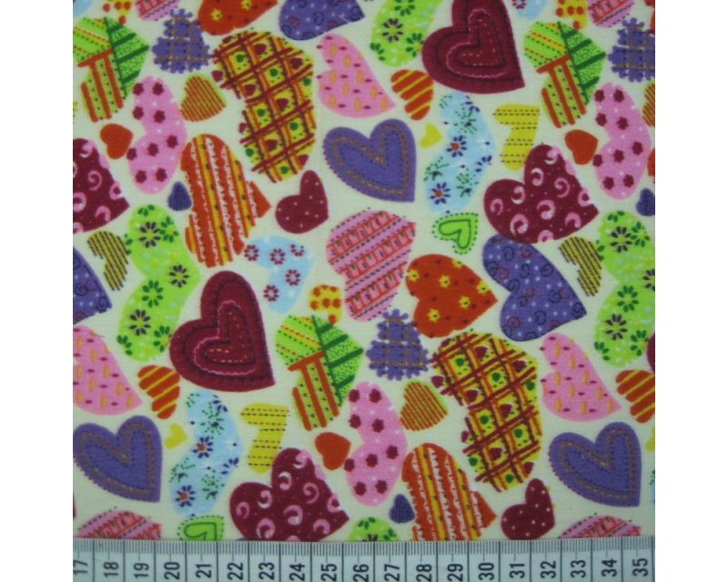 MP Hearts Polycotton