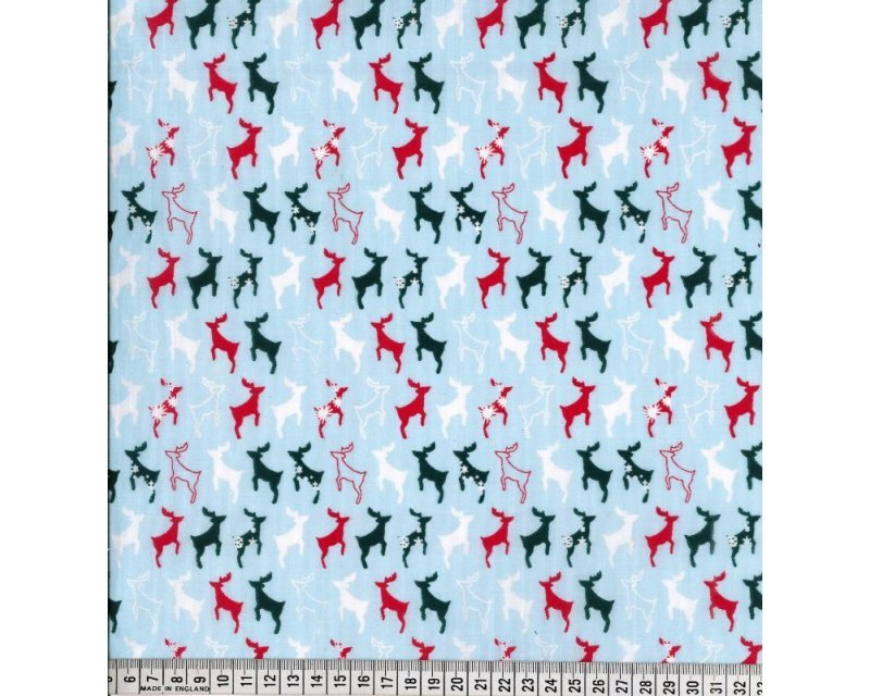 MP Xmas Reindeer Polycotton