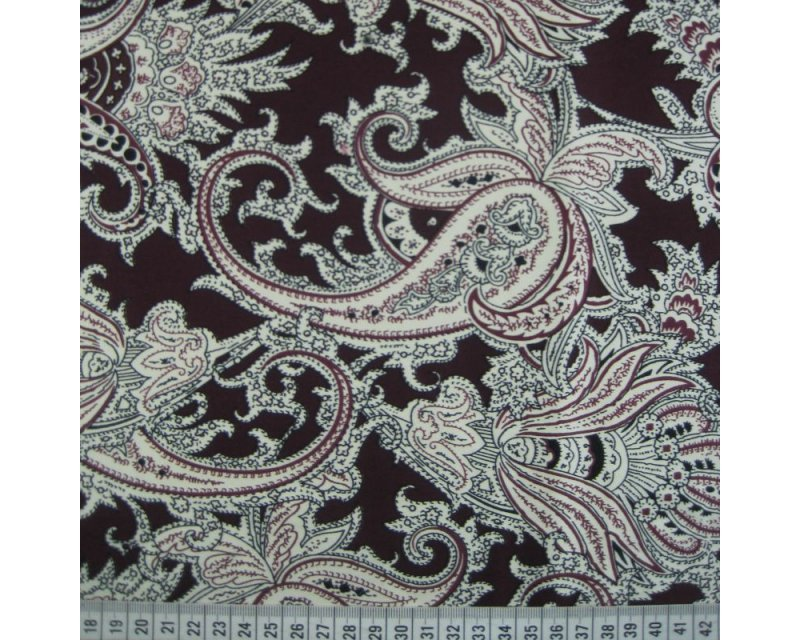 Paisley Stretch Cotton Sateen