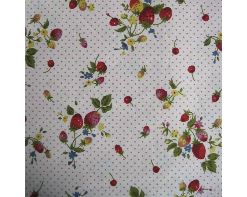 Printed Spot Lg Strawberry Poplin