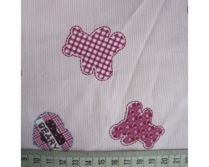 Patchwork Teddy/Heart Cotton