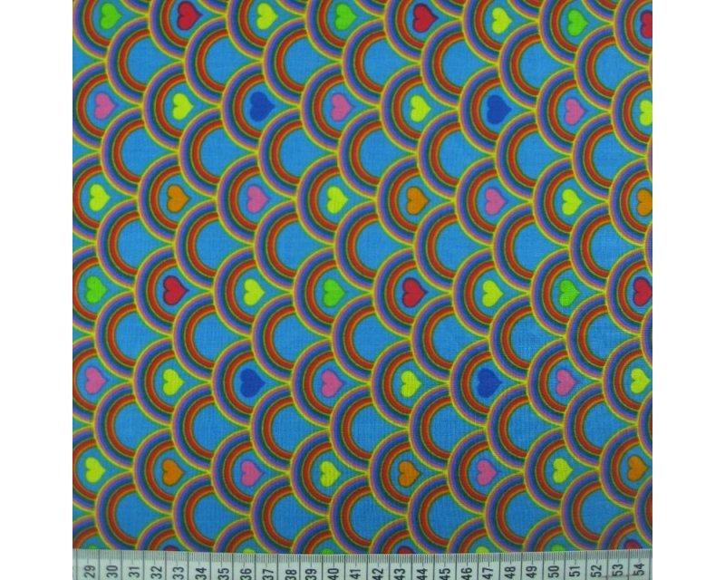 Rainbow Heart Cotton