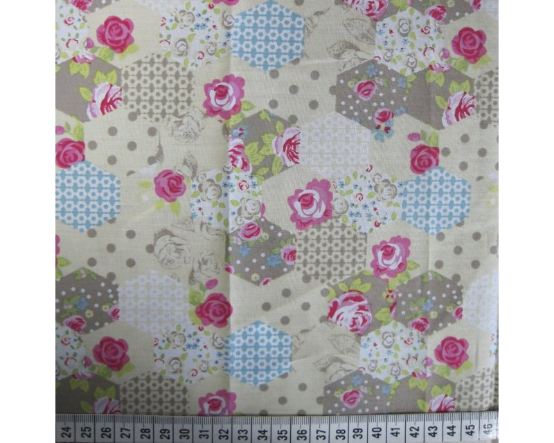 Rose Hex Patchwork Cotton