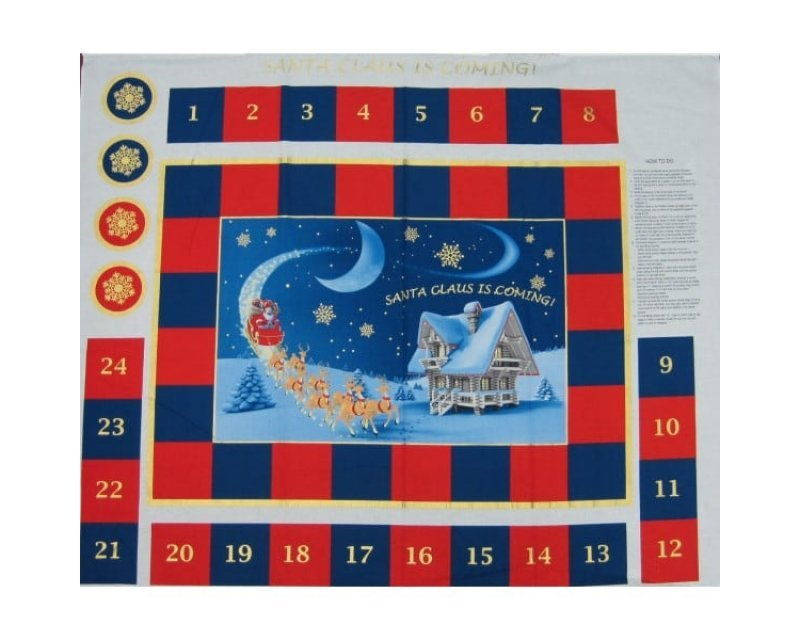 Xmas Coming Advent Calendar Cotton