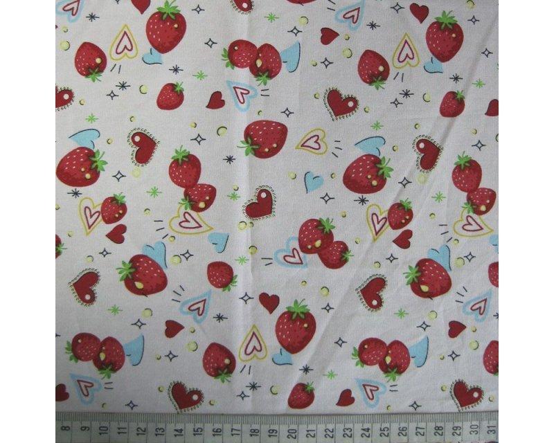 Spot/Heart Strawberry Cotton