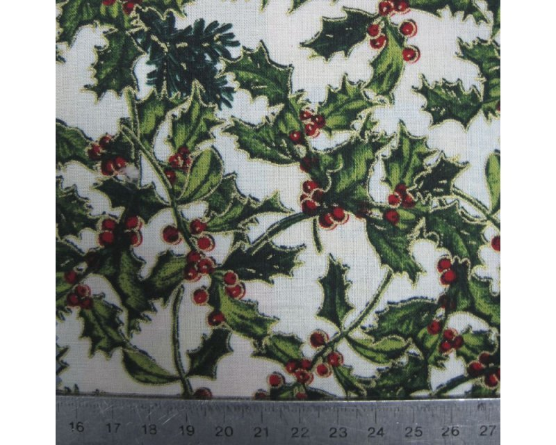 Xmas Holly Berry Cotton