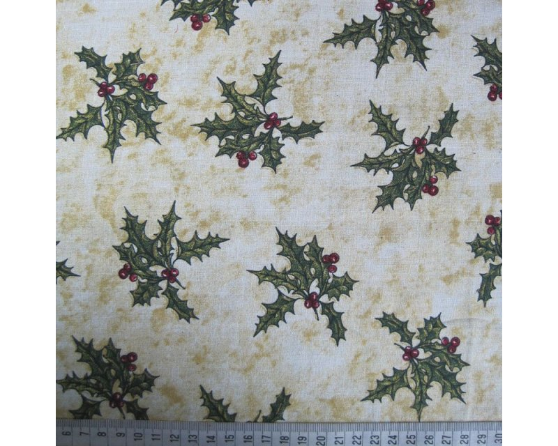 Xmas Holly Cotton
