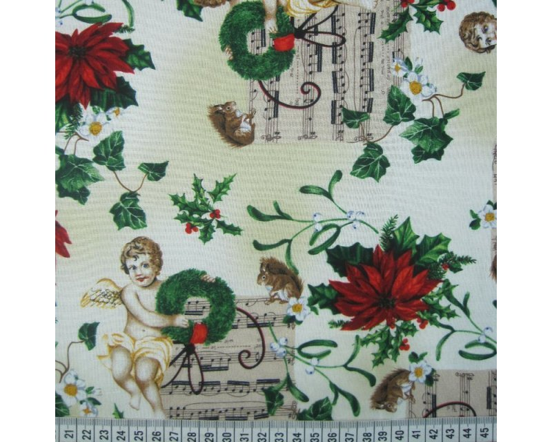 Christmas Musical Angels Cotton