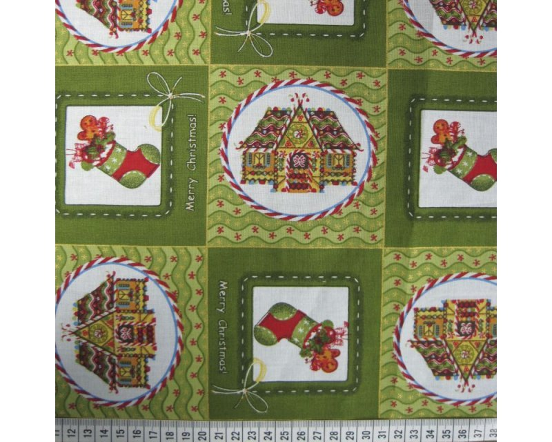 Xmas Patchwork Stockings Cotton