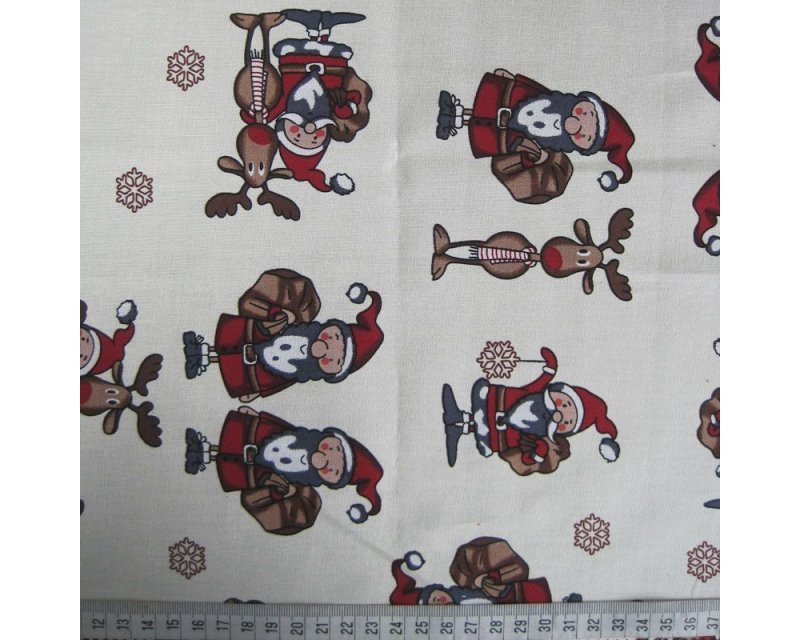 Xmas Santa Reindeer Cotton