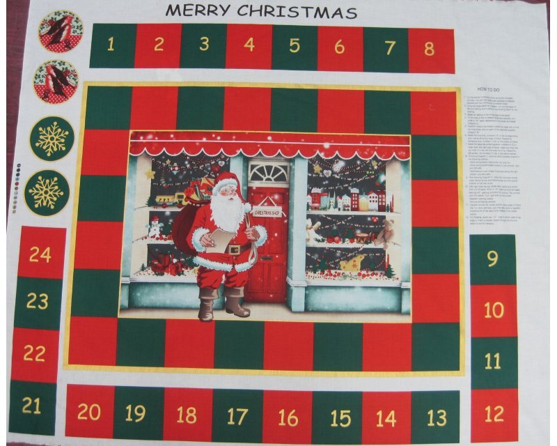 Xmas Shop Advent Calendar Cotton