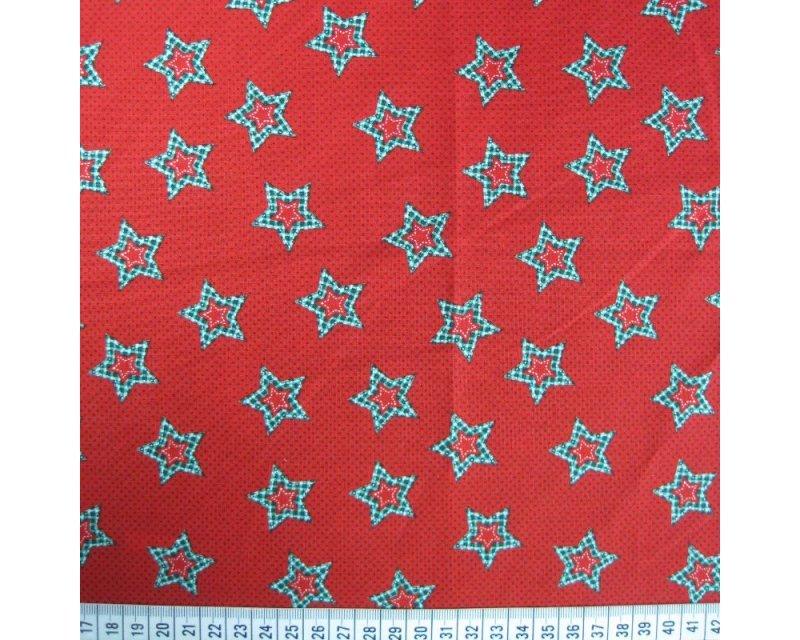 Xmas Spots Stars Cotton