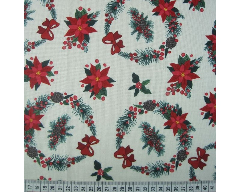 Xmas Wreath Cotton