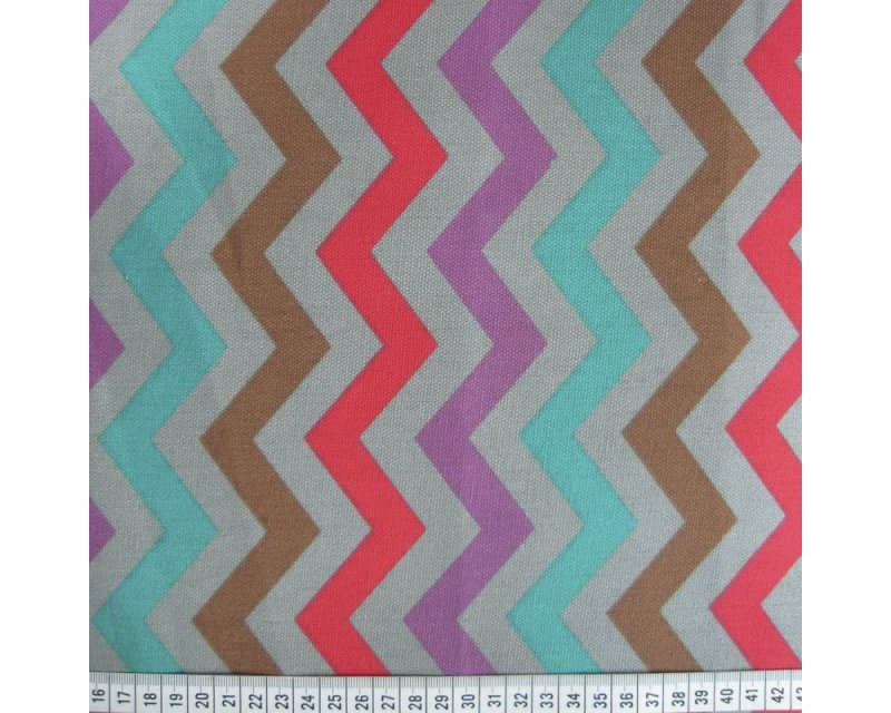 Zigzag Polycotton Canvas