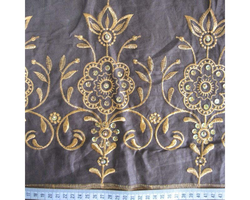 Embroidered Bead Pure Linen