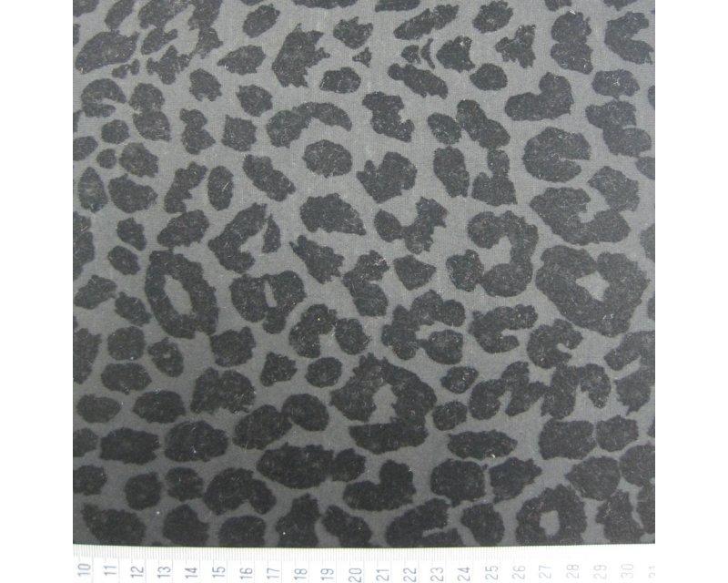 Flock Leopard Jersey - Black
