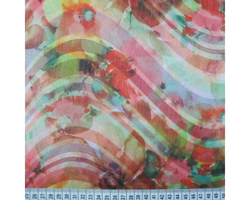 Floral Swirl Digital Lurex Satin