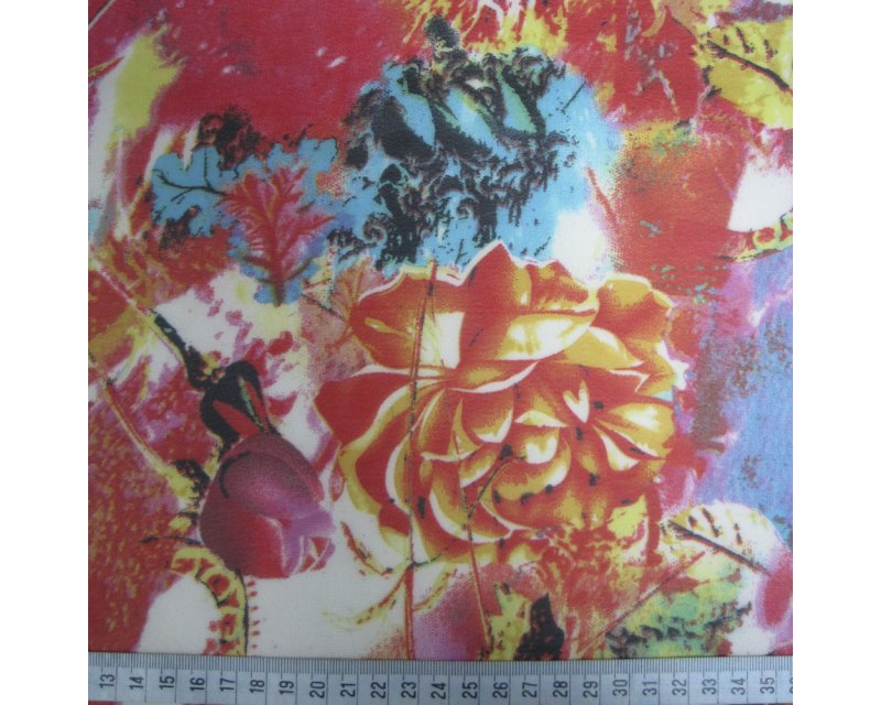 Large Flower Georgette