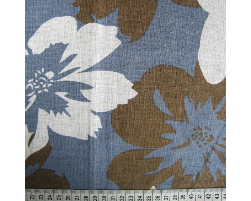 Large Flower Linen Mix