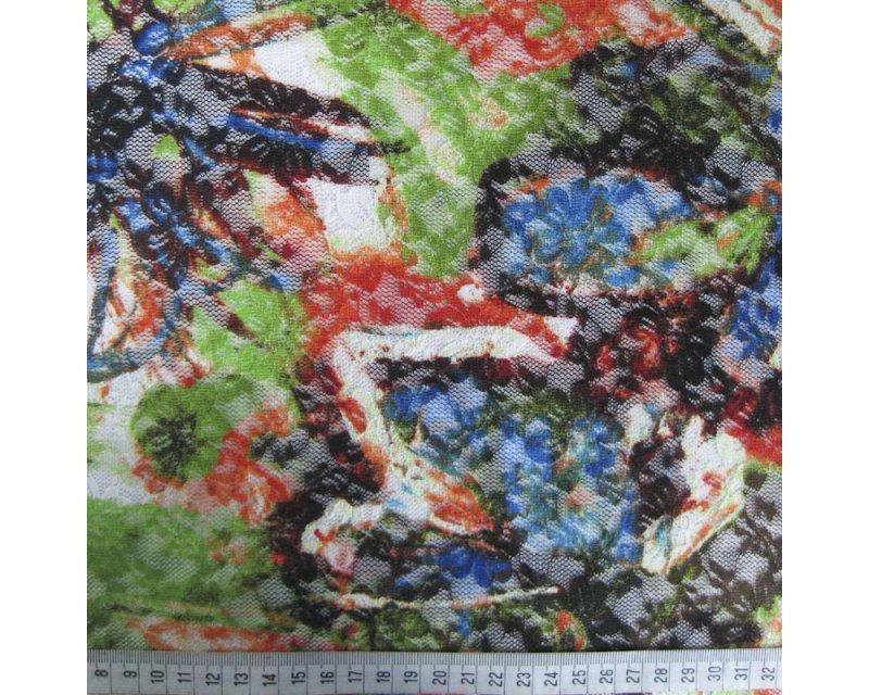 Tie Dye Floral Lace